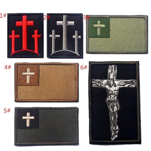 Christian, badgesamppatche, Armband, Cross