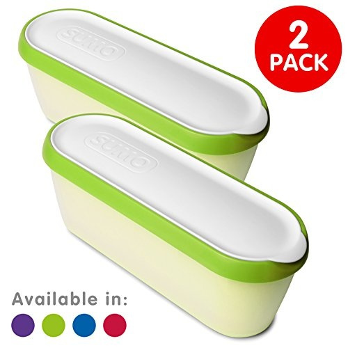 Rainbow 4-Pack SUMO Ice Cream Containers /Â/· Insulated Ice Cream Tub /Â/· Container Ideal for Homemade Ice-Cream Gelato or Sorbet /Â/· Dishwasher Safe /Â/· 1.5 Quart Capacity /Â/·