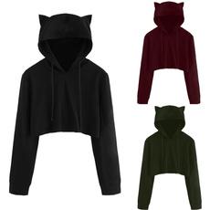 autumnwinter, fashion women, hooded, Sleeve