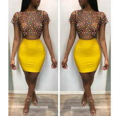 Fashion, crop top, Colorful, see through