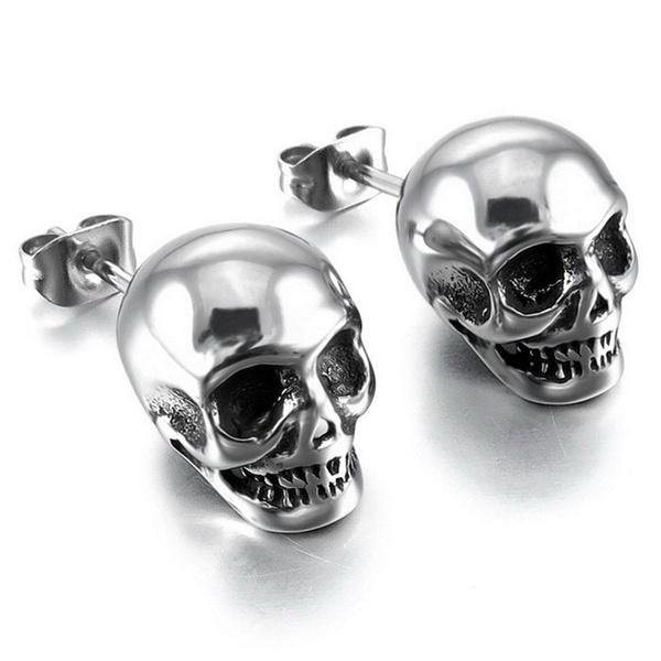 Goth, hip hop jewelry, punk earring, Stud Earring
