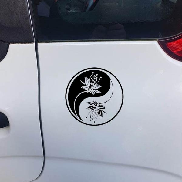 Beautiful, Car Sticker, Flowers, Waterproof