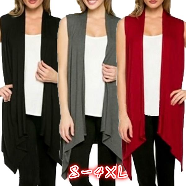 Vest, Plus Size, sleevelesswaistcoat, Women's Fashion