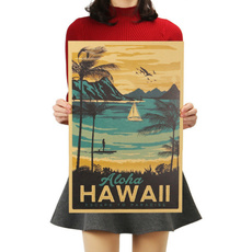 Vintage, alohahawaii, Posters, Stickers