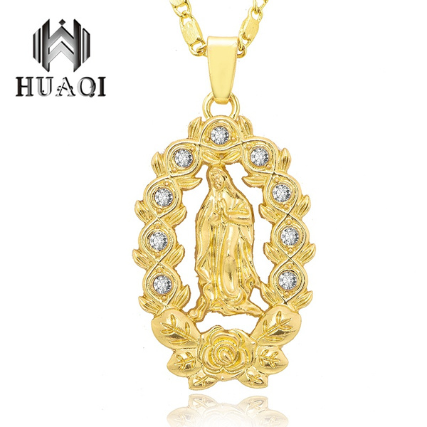 virginmarynecklace, Copper, Fashion, Jewelry