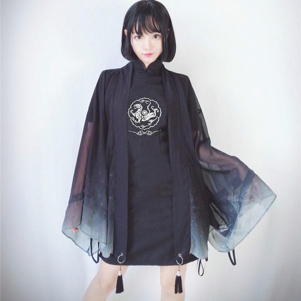 womenloosecardigan, cardigan, Chinese, Sleeve