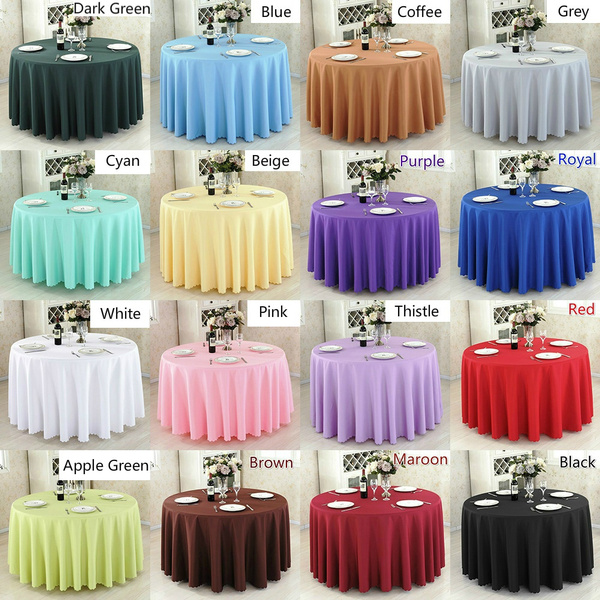 Polyester, Decor, Home Decor, roundtablecloth