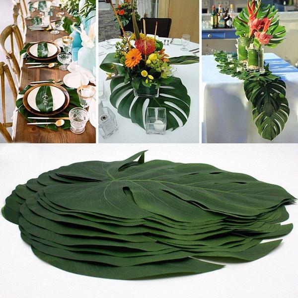 Summer, Flowers, Hawaiian, palmleave
