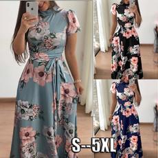 Summer, Shorts, Floral print, short dress