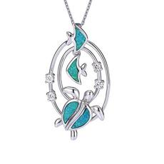 Turtle, Blues, Chain Necklace, theme