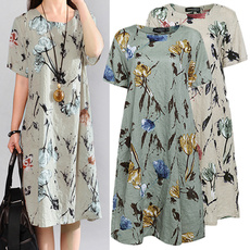 Plus Size, long dress, Vestidos, short sleeves