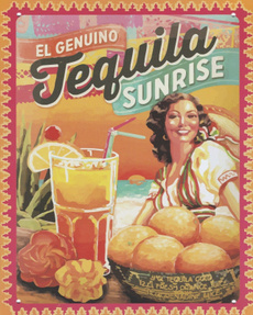 tequilasunrise, cardecor, tequilasunrisetinsign, officedecor