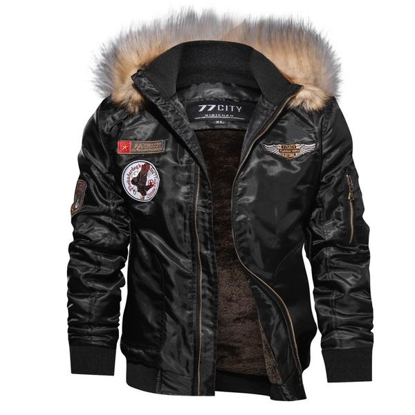 Casual Jackets, Fashion, Waterproof, fur collar