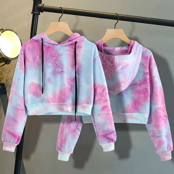 Fashion, crop top, Hoodies, Long Sleeve