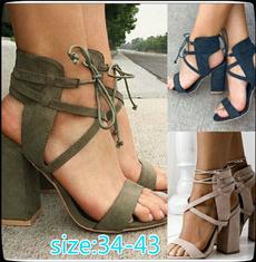American, Women, Head, High Heel Shoe