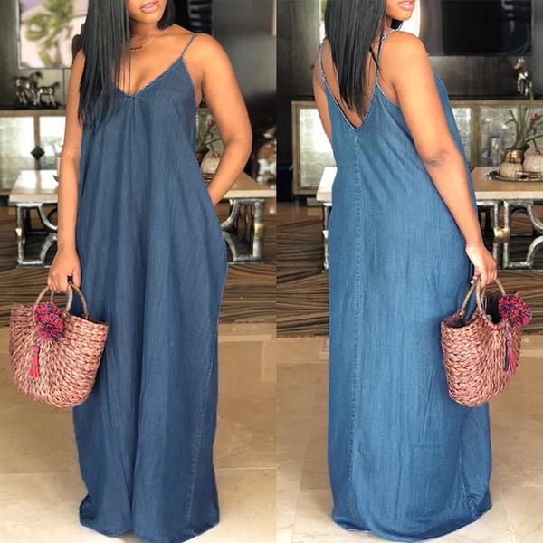 Summer, fashion women, Plus Size, long dress