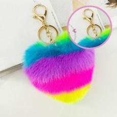 Keys, Heart, pompomkeychain, Fashion