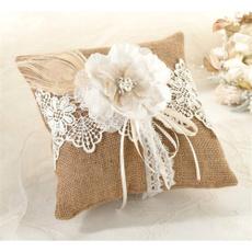 Flowers, ringpillowwedding, custom pillowcase, Country