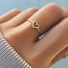 Sterling, Heart, Girlfriend Gift, stackablering