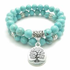 Beaded Bracelets, turquoisebracelet, Yoga, Vintage