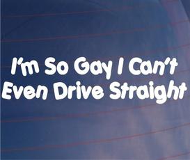 Funny, Decor, gay, Car Sticker