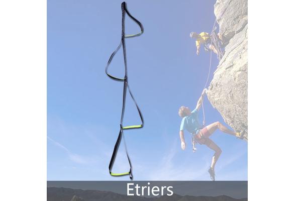 Rock Climbing Caving   Webbing Step Ladder Etrier Rope Safety Equipment