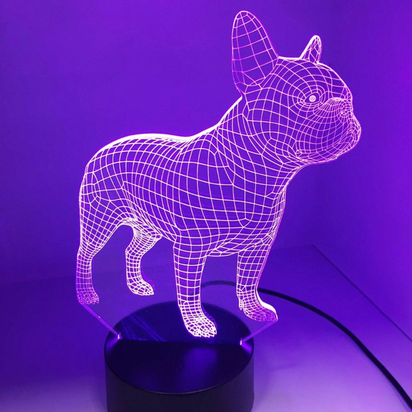 French Bulldog 3d Led Night Lamp 7, French Bulldog Lamp