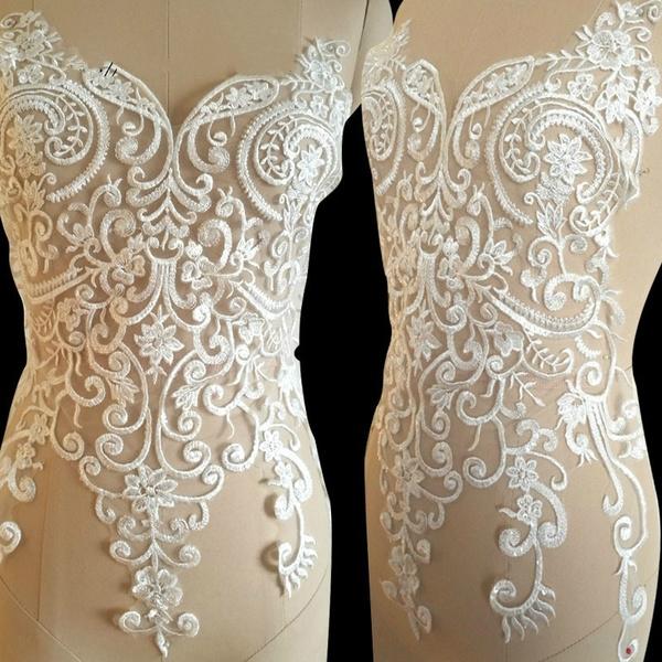 weddingdressapplique, Fashion, embroiderylaceapplique, Lace