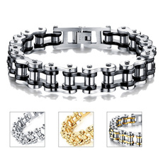 Steel, Bikes, bicyclechainbracelet, Titanium Steel Bracelet