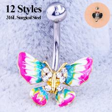 butterfly, Steel, DIAMOND, Jewelry