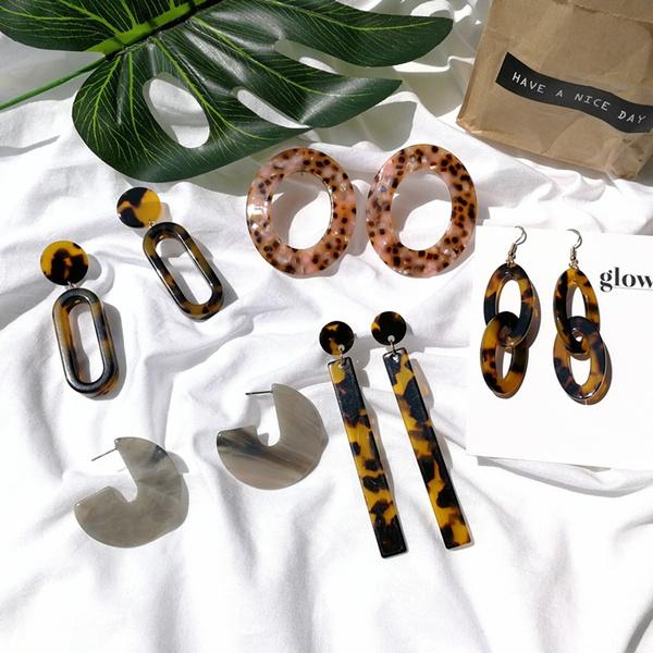 Women, Fashion, Dangle Earring, leopardearring