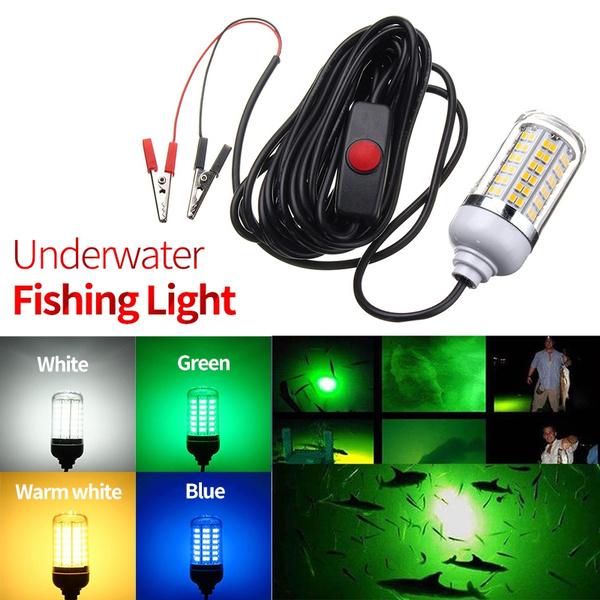 12v Green Led Fishing Light Deep Drop Underwater Fishing Lures Light Waterproof Fish Attractor Prawn Squid Fishing Bait Lights Geek