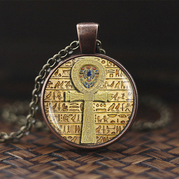 chainsnecklace, Cross necklace, Egyptian, Vintage