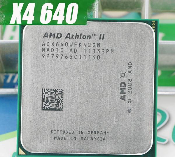 100 Original Amd Athlon Ii X4 640 Cpu Processor Quad Core 3 0ghz L2 2m 95w 2000ghz Socket Am3 Am2 938 Pin Sell X4 635 Wish