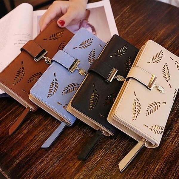 Fashion Women Zipper Pu Leather Clutch Coin Phone Long Purse Wallet Card Holder