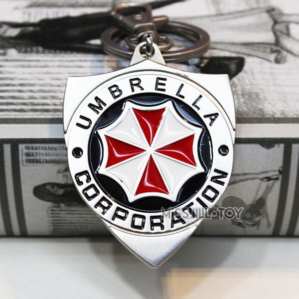 Key Chain, shield, residentevil, Metal