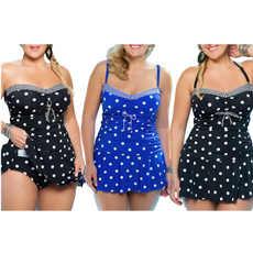 Plus Size, Polka Dot Bikini, plus size bikinis, Swimming