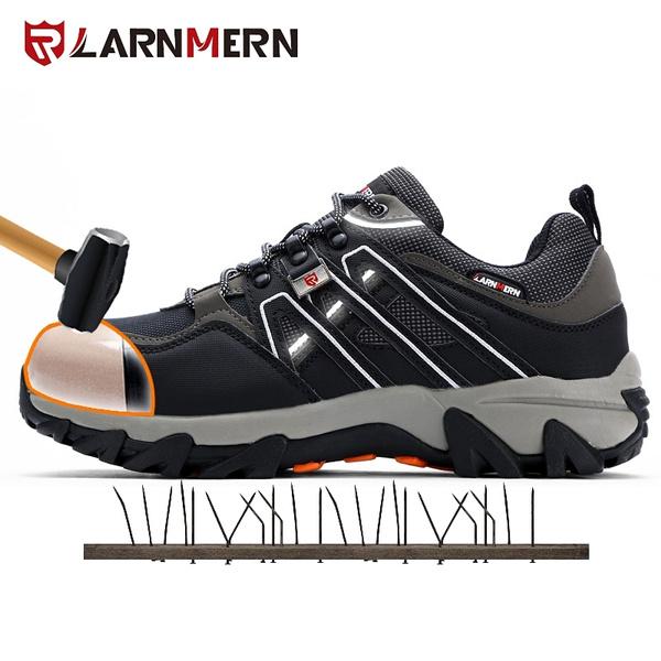 LARNMERN Men Steel Toe Safety Shoes