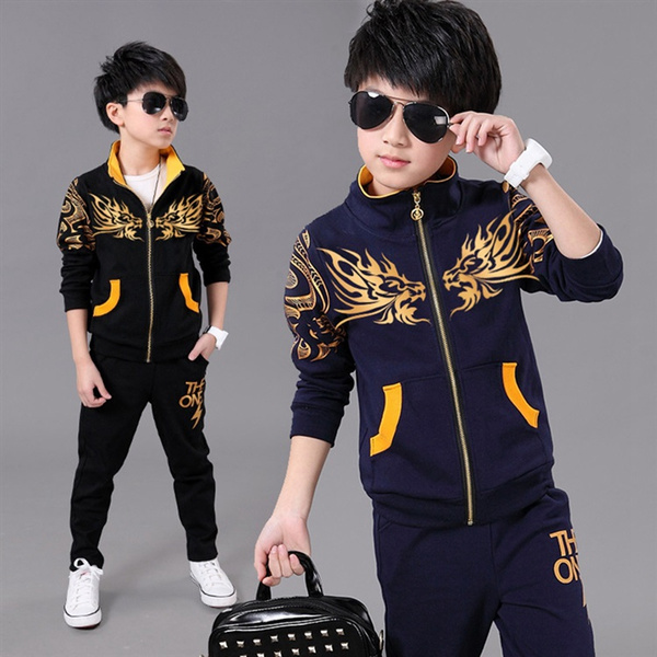 New Boy Sports Suit Kids Spring Sport Suits Boys Clothing Set Children Warm  Clothes Tracksuit Sweatshirt pants Casual Clothes Sets For 4-13Years Old    Wish