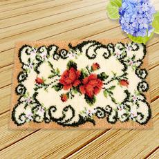 latchhookkit, Embroidery, knittingwool, Rose