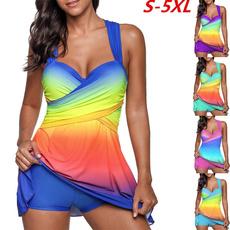 gradientcolor, Swimdresses, Shorts, SwimwearWomen