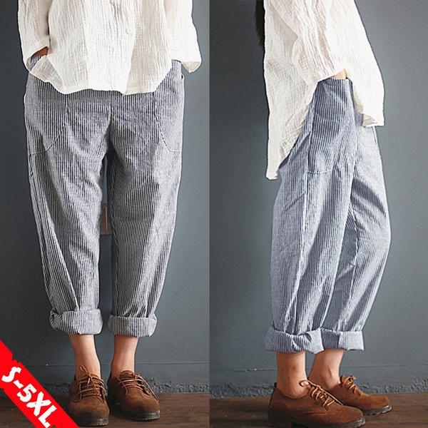 longtrouser, harem, elastic waist, cottonpant