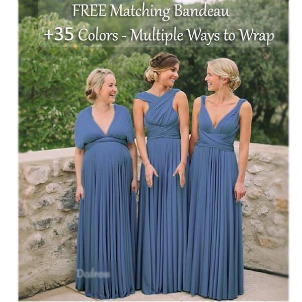 Maternity Dresses, Blues, Infinity, bridesmaiddresseslong