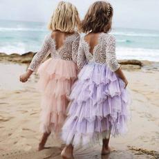 Summer, girls dress, Lace, Dress
