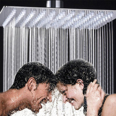 squareshowerhead, showerplumbing, rainfall, duschkopf