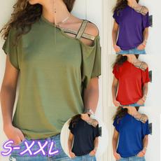 Tops & Blouses, off shoulder top, Plus Size, Cotton Shirt