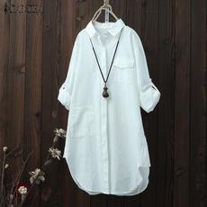 Plus Size, longtop, Fashion, Sleeve
