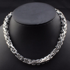Steel, Stainless, Chain Necklace, Stainless Steel