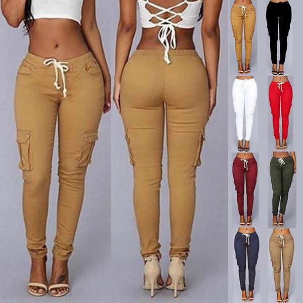 Women, Plus Size, skinny pants, Elastic