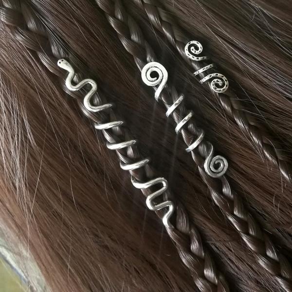 viking, spiralbead, beardhairpin, vikinghairpin